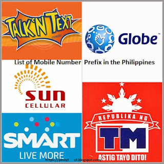 List of Mobile Number Prefix in the Philippines