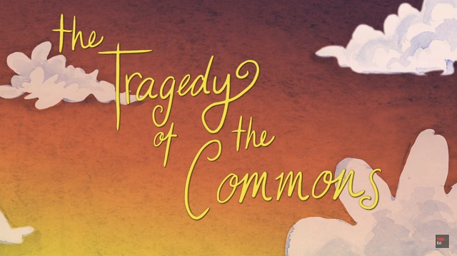 The tragedy of the commons, explains