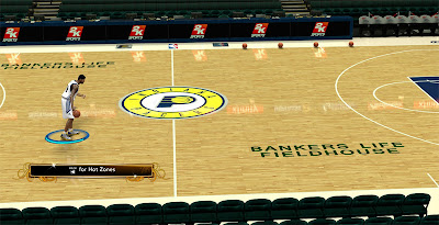 NBA 2K13 Indiana Pacers HD Floor Patch