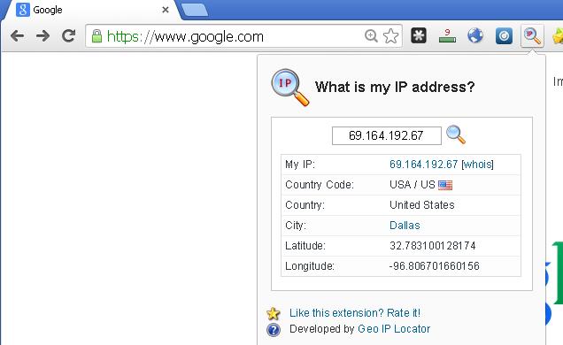 شرح وتحميل إضافة فحص عنوان الاي بي What is my IP address لجوجل كروم
