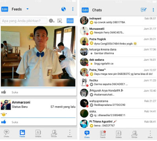 BBM Mod iPhone New Style for Android
