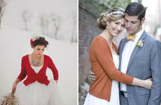 alternative alla stola per la sposa, brides wearing cardigans