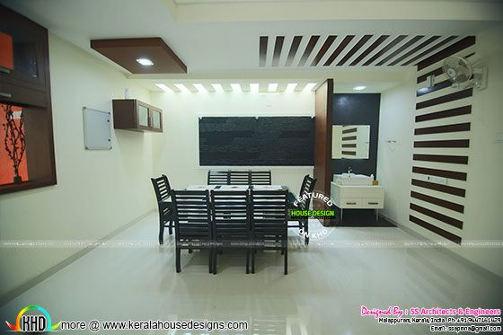Dining room furnished interior