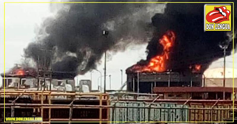 Explotaron dos tanques de diluyente químico en Anzoátegui