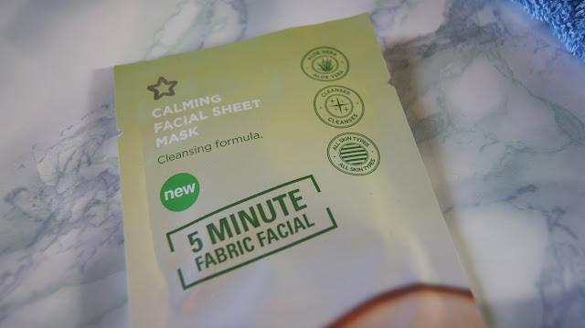 Superdrug Calming 5-Minute Facial Sheet Mask