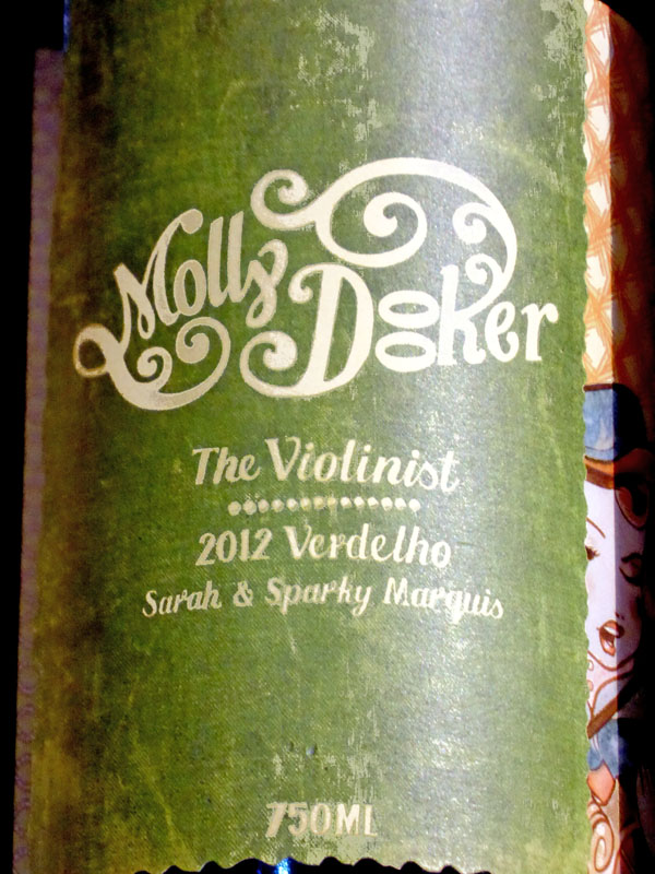 Musical terms in the marketplace - Molly Dooker The Violinist wine