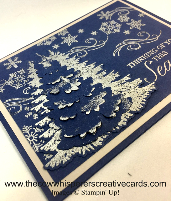 Card, Winter Woods, In the Woods Framelits, Beautiful Blizzard