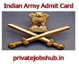 Indian Army Admit Card 2017 JCO/RT Download Written Exam ...