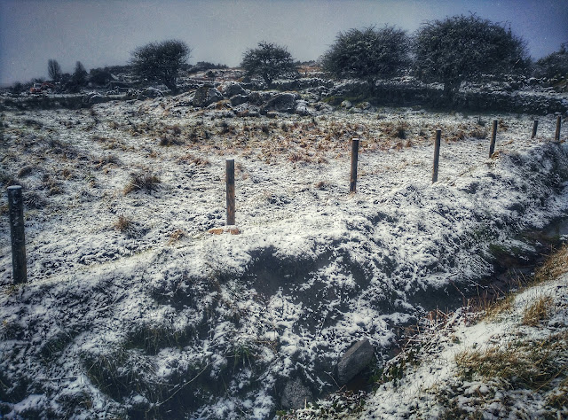 Snowy Connemara landscape