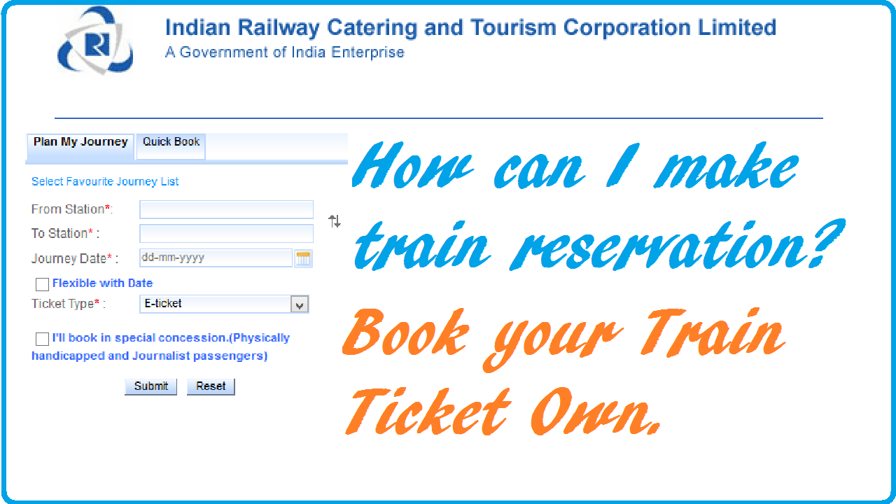 how to make indian railway train ticket online how can i make