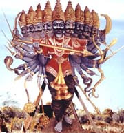 King Bali Humbles the Pride of Ravana