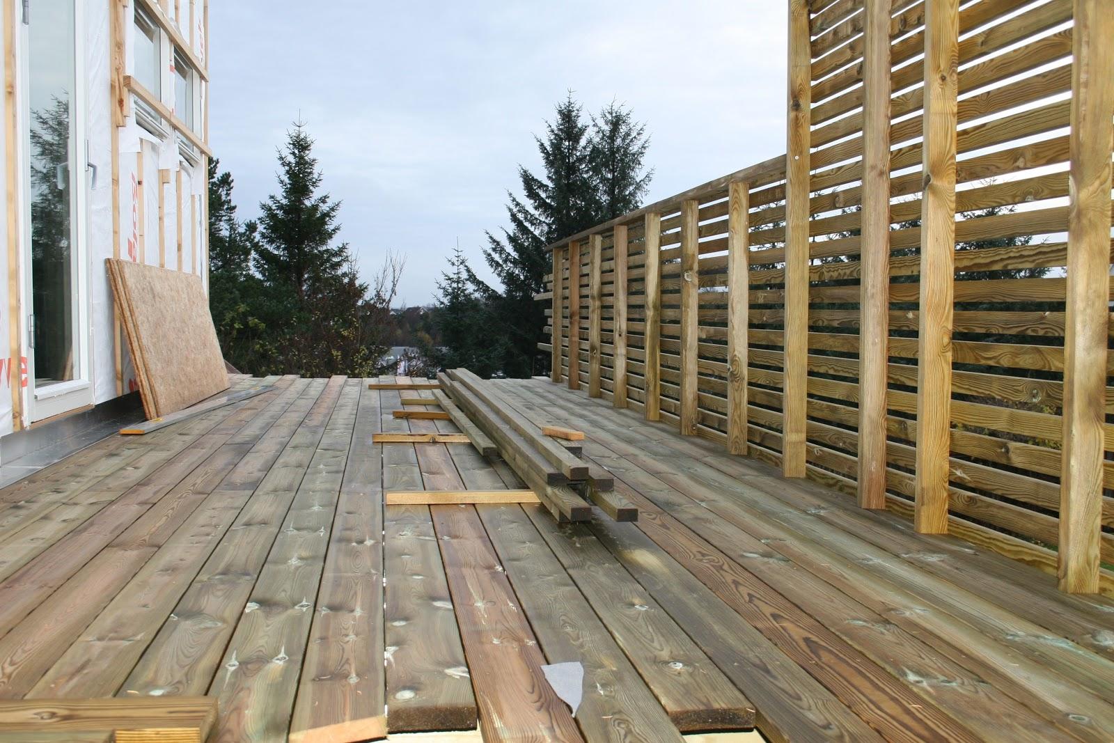 bygge rekkverk terrasse