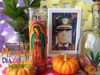 portaretrato decorado para altar del dia de muertos