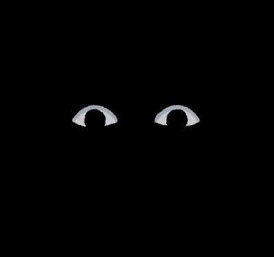 暗闇に浮かぶ目のイラスト