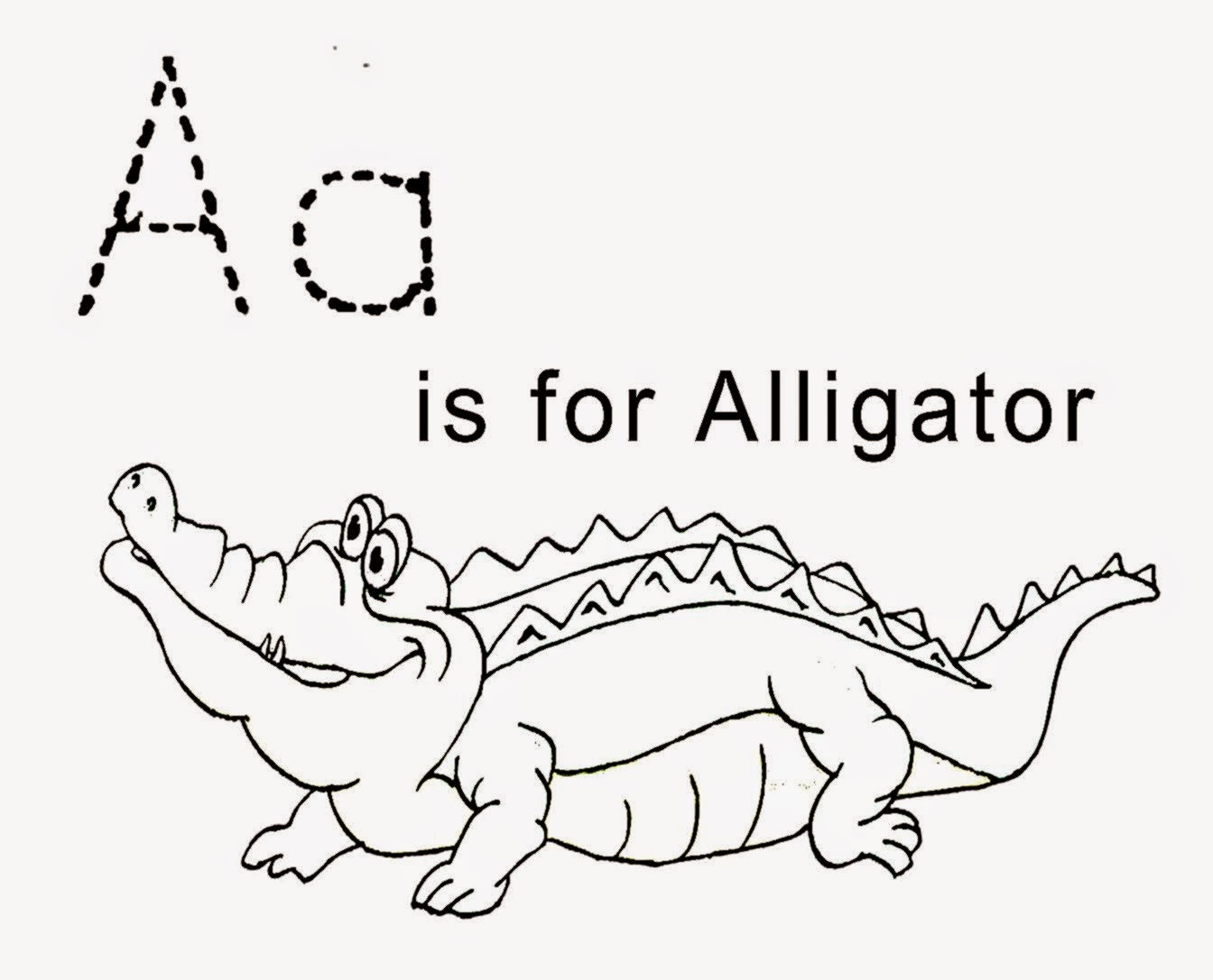 Free Coloring Sheet Alligator Coloring Sheet