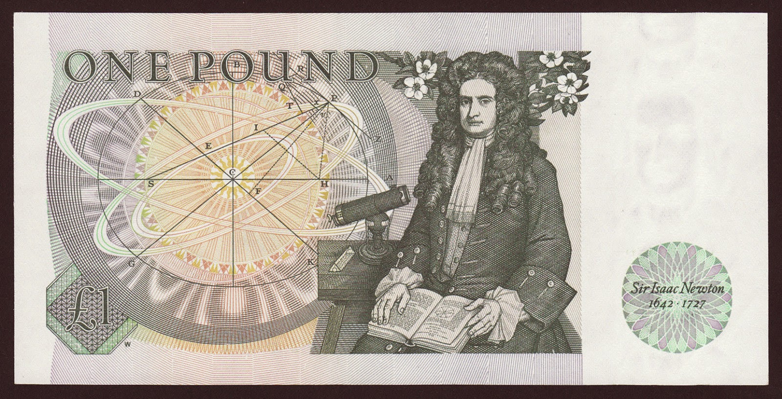 British One Pound Note Isaac Newton, Bank of England Banknotes