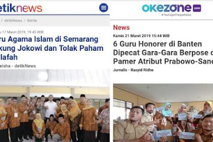 Guru Dukung Jokowi Bebas, Guru Dukung Prabowo-Sandi Langsung Pecat