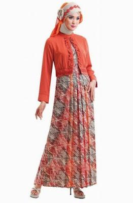 Model Gamis Batik Pesta untuk anak muda