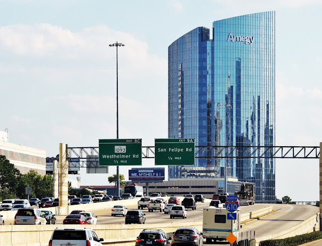 Southbound on 610 West Loop - New Amegy Bank Tower at 1717 West Loop S, Houston, TX 77054