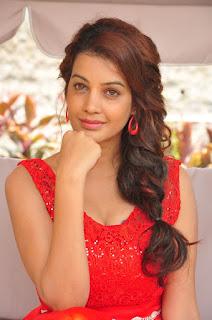 Actress Deeksha Panth Stills in Red Short Dress at Banthi Poola Janaki Press Meet  0099.jpg