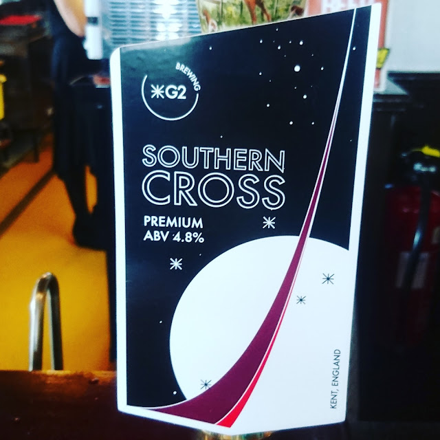 Kent Craft Beer Review: Southern Cross from G2 Brewery real ale pump clip