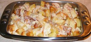 preparare cartofi si branza la cuptor, retete cu cartofi, preparate din cartofi, retete culinare, retete de mancare, preparare garnitura friptura,