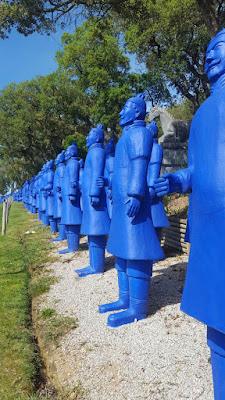buddha eden garden, terracotta soldiers