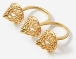 Isharya's Filigree Spoke Triple Ring