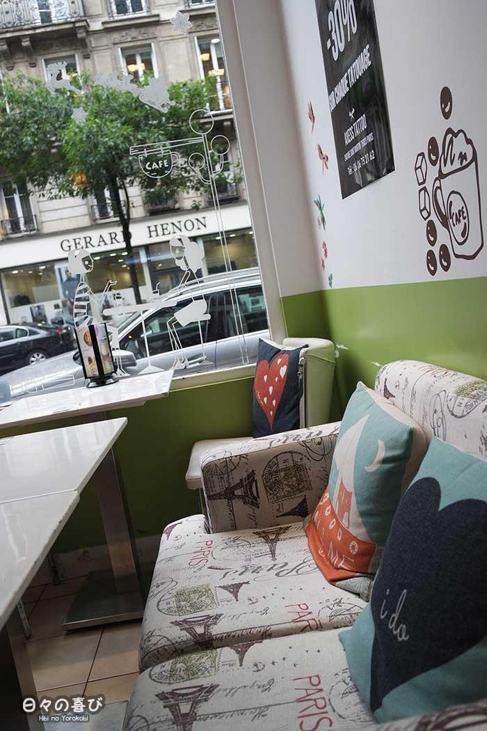 aperçu décoration guimi house banquettes, vitrine et stickers muraux