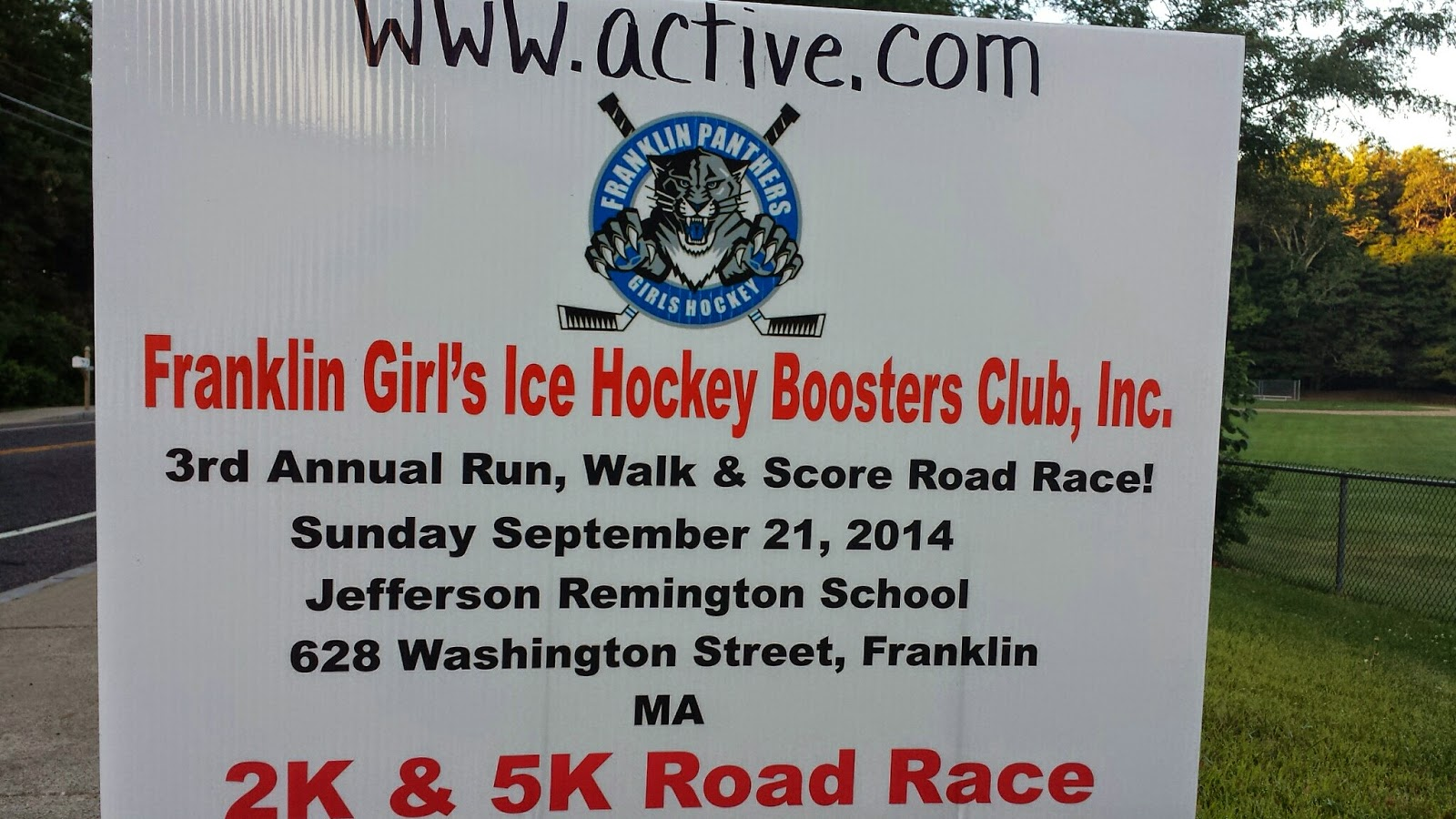 3rd annual Run, Walk and Score Road Race - Sep 21
