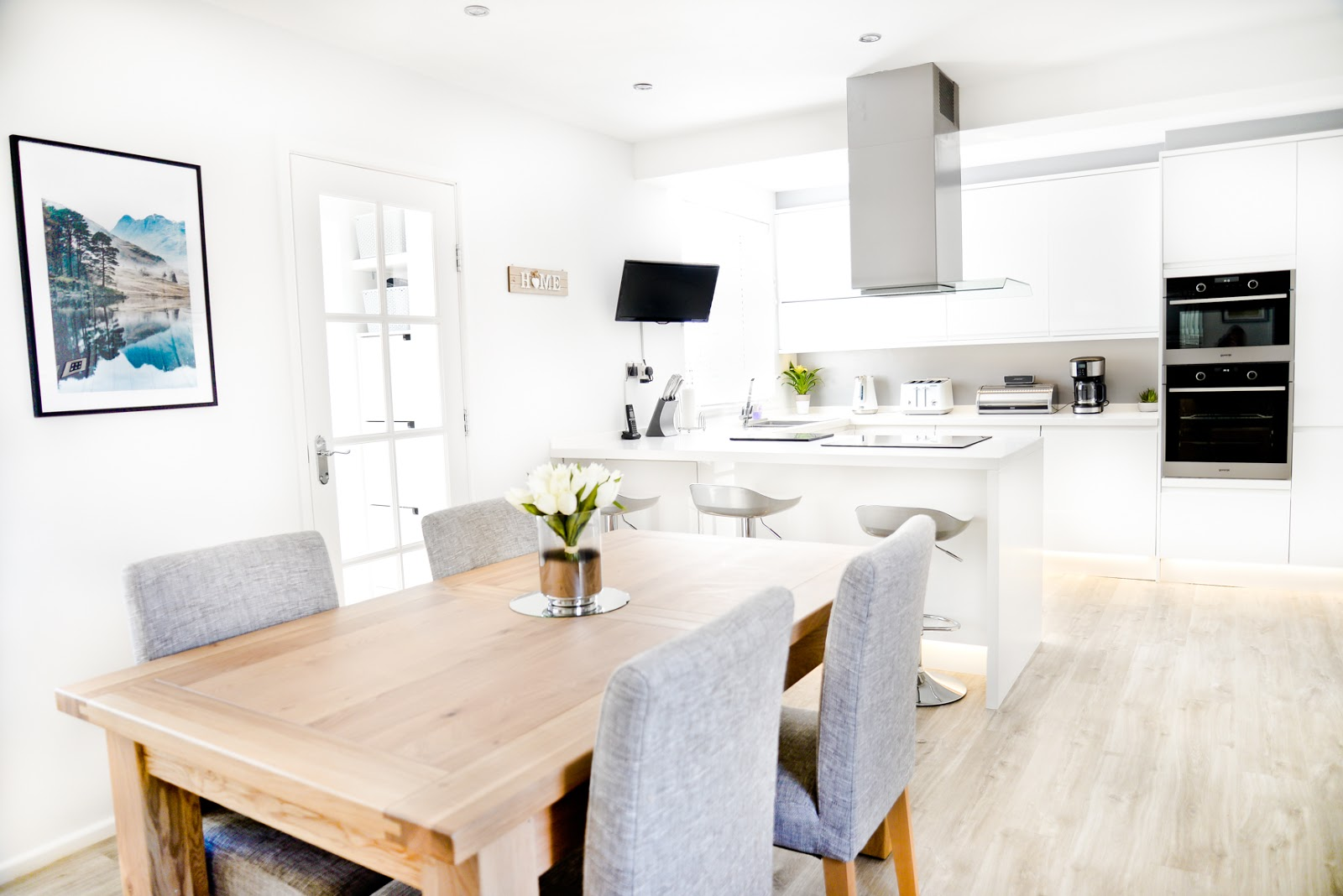 Our Brand New White Modern / Scandinavian Style Kitchen and Dining ...