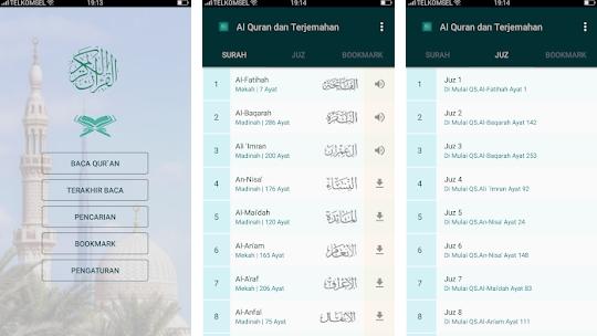 Aplikasi Al Quran & Terjemahan Indonesia
