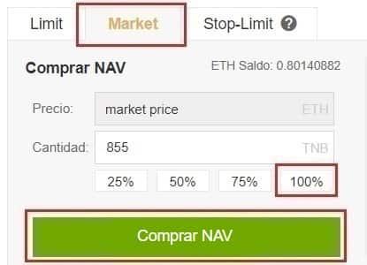 Comprar NAV Coin y Almacenar en Wallet