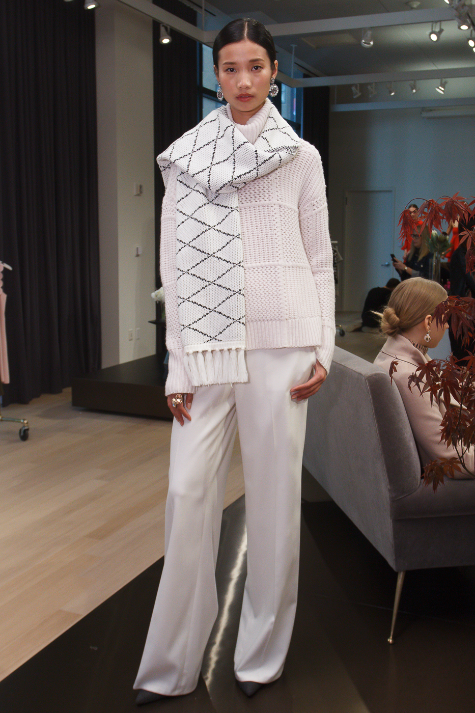 0c15b5c71c White pant & scarf with off-white sweater Photo: ©Shawn Punch 2016