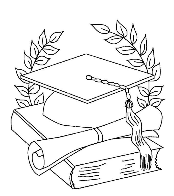 Atividade para imprimir: Desenhos de formatura para