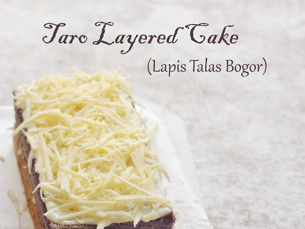 Taro Layered Cake (Lapis Talas Bogor)