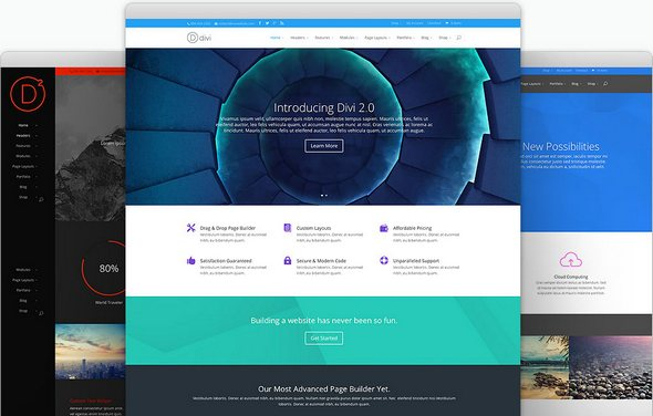 Divi v2.7 + Divi Builder v1.3 + Divi PSD & Layouts