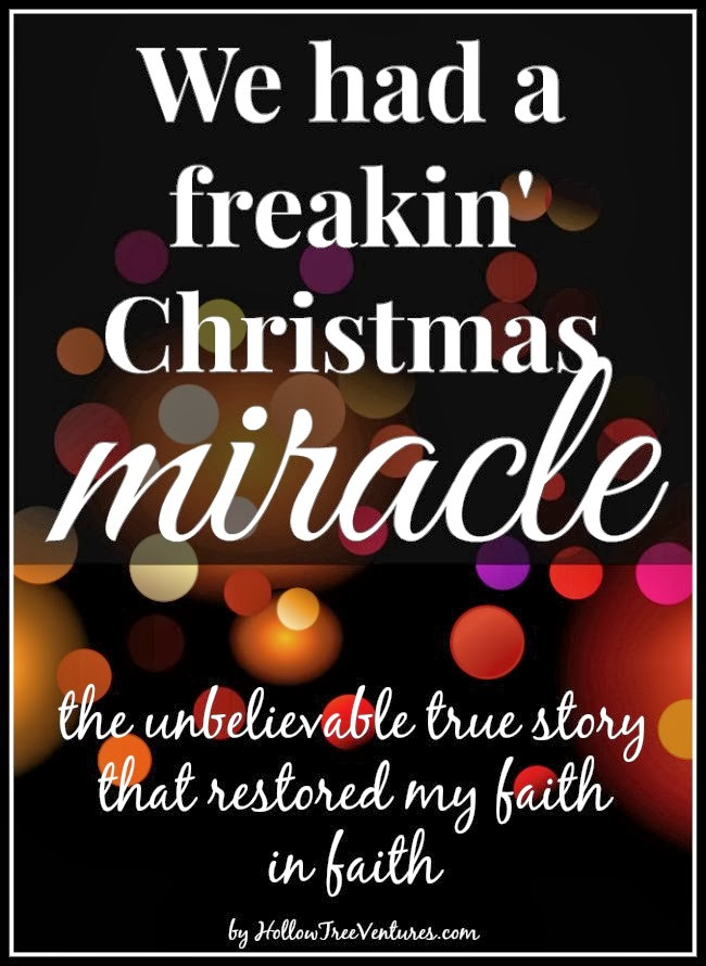 true story - a Christmas miracle by Robyn Welling @RobynHTV