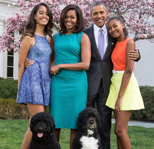 What an amazing 8yrs it has been! - Sasha Obama shares adorable family pic