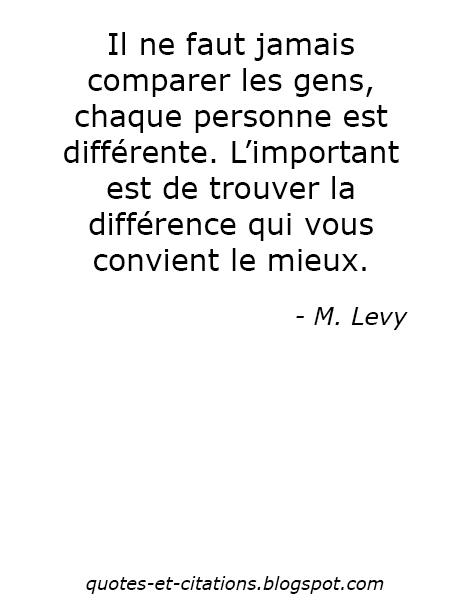 citation chaque personne est différente