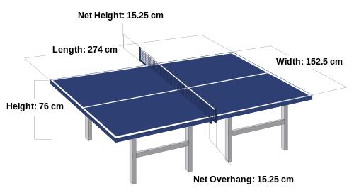 Ukuran Lapangan Tenis Meja Standar Nasional