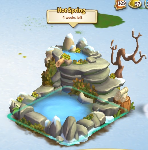 Build your hot spring for Farmville 2 decorations
