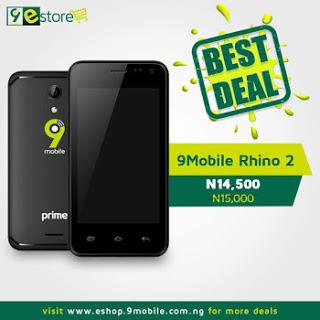 9Mobile launches ₦14000 Rhino 2 Android Phone - Joshua