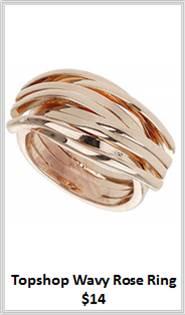 Sydney Fashion Hunter - Rose Gold - Topshop Wavy Ring