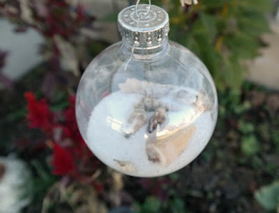 DIY Coastal Seashell Christmas Ornaments