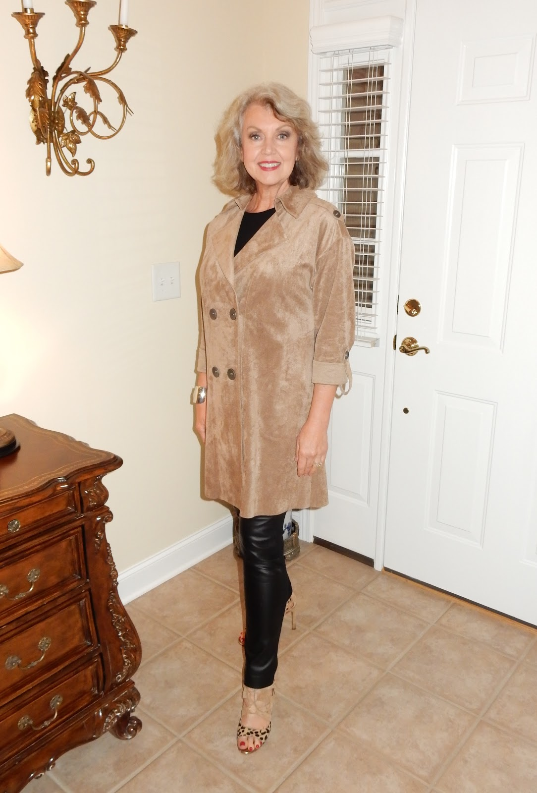 Fifty Not Frumpy Suede Trench Coat