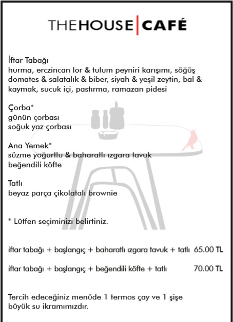 the house cafe müze kocasinan kayseri iftar menu