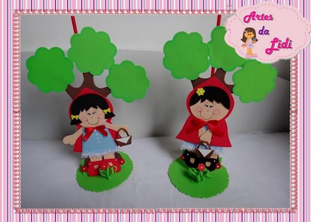 Centros de Mesa para festa infantil Chapeuzinho Vermelho
