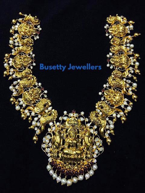 Lakshmi Peacock Set by Busetty Jewellers