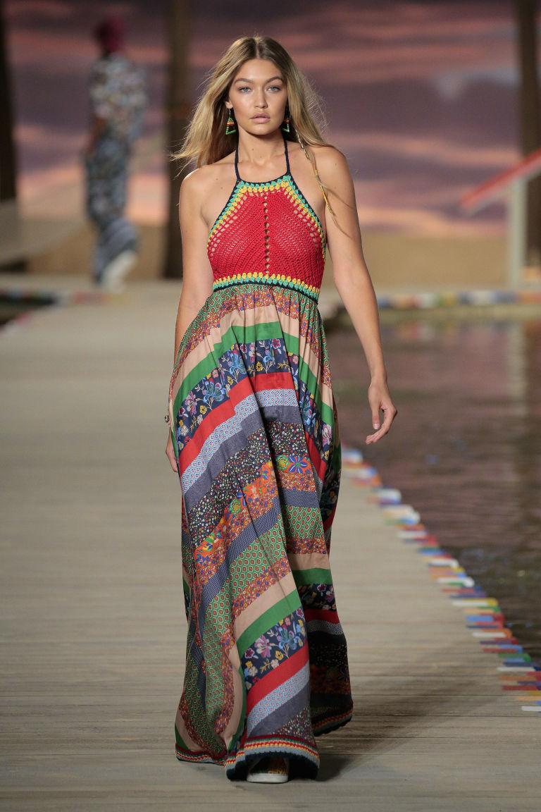 Gigi Hadid Opens Tommy Hilfiger's LA Show & Flaunts Toned Abs On The Runway